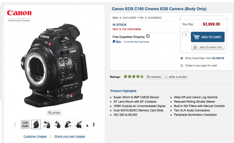 Canon Drops Price On C100 & C300