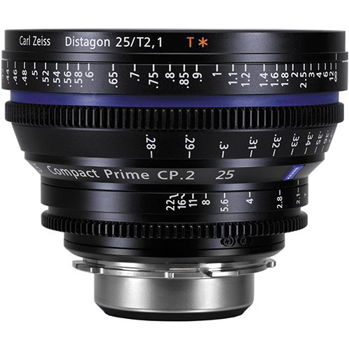 Rent Zeiss 25mm CP.2 Lens